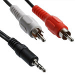 AV RCA  Audio Adapter Cable for stereo, car, Ipod, MP